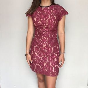 Revolve WAYF Lacy Mauve Floral Dress, Small